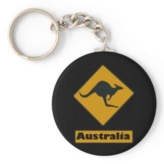 Australia Road Sign - Kangaroo Crossing Keychain