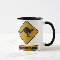 Australia Road Sign - Kangaroo Crossing Mug