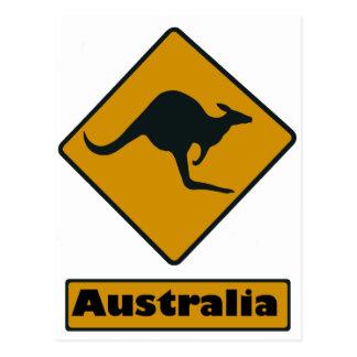 Australia Road Sign - Kangaroo Crossing Postcard