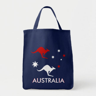 Australia Roo and Southern Cross Grocery Bag