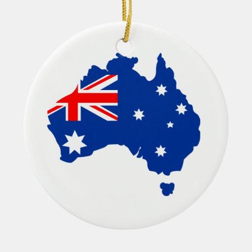 Australia Round Ceramic Decoration
