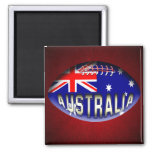 Australia Rugby Ball 2 Inch Square Magnet