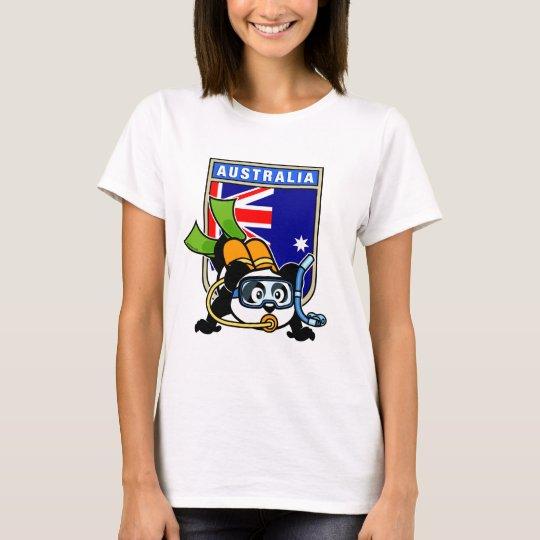Australia Scuba Diving Panda T-Shirt