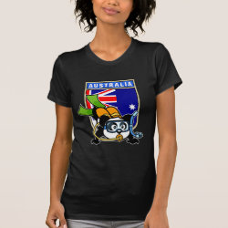 Women's American Apparel Fine Jersey Short Sleeve T-Shirt with Australia Scuba Diving Panda design