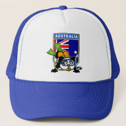 Trucker Hat with Australia Scuba Diving Panda design