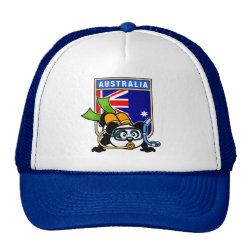 Trucker Hat with Australia Scuba Diving Panda design