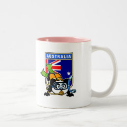 Two-Tone Mug with Australia Scuba Diving Panda design