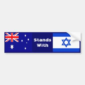 Australia se coloca con Israel Pegatina Para Auto