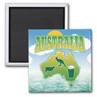 Australia - Sheep Kangaroos and Beer Magnet