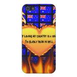 Australia si el amor de mi país es un pecado iPhone 5 funda