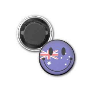 Australia Smiley 1 Inch Round Magnet