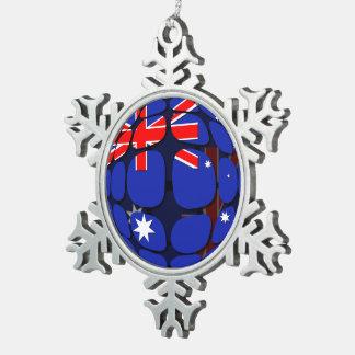 Australia Snowflake Pewter Christmas Ornament