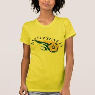 Australia Soccer flame design T-Shirt