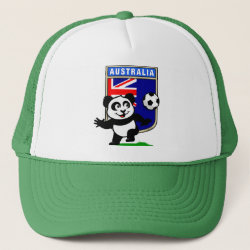 Australia Football Panda Trucker Hat