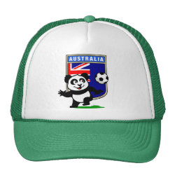 Trucker Hat with Australia Football Panda design