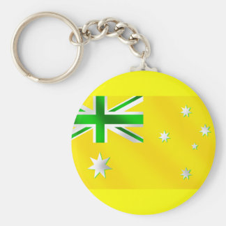 Australia Soccer T-shirts and football fans gifts Basic Round Button Keychain