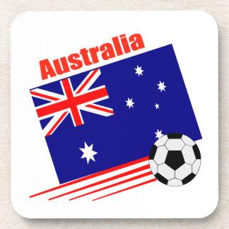 Australia Soccer Team Beverage Coaster