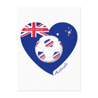 """AUSTRALIA"" Soccer Team. Fútbol de Australia. Lona Envuelta Para Galerias"
