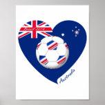 """AUSTRALIA"" Soccer Team. Fútbol de Australia. Póster"