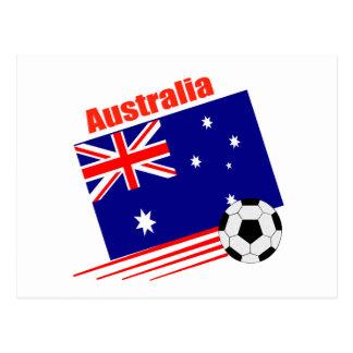Australia Soccer Team Postcard