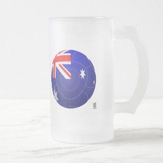 Australia - Socceroos Football Frosted Glass Beer Mug