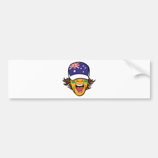 Australia sports fan bumper stickers