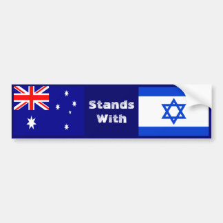 Australia Stands With Israel Bumper Sticker
