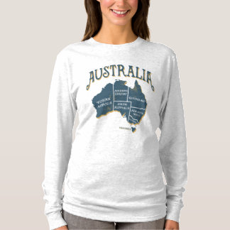 Australia States and Territories Map T-Shirt