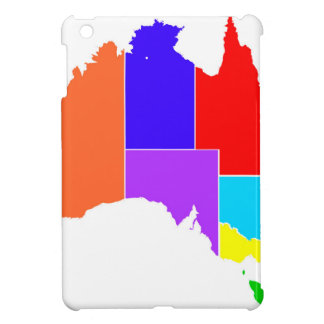 Australia States In Colour Silhouette iPad Mini Covers