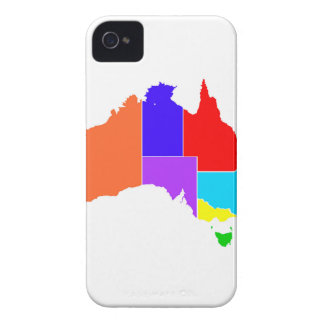 Australia States In Colour Silhouette iPhone 4 Case