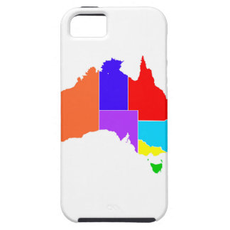 Australia States In Colour Silhouette iPhone SE/5/5s Case