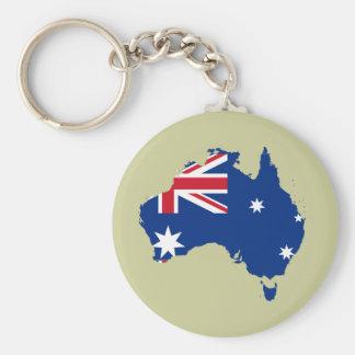 Australia stub, Australia Basic Round Button Keychain