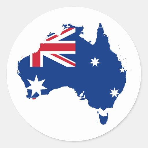 Australia stub, Australia Classic Round Sticker