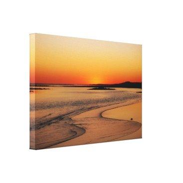 Beach Themed Australia Sunset Glow Canvas Print