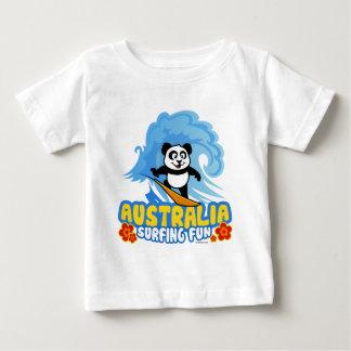 Australia Surfing Panda Baby T-Shirt