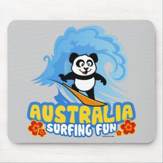 Australia Surfing Panda Mouse Pad