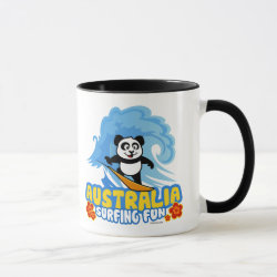Combo Mug with Australia Surfing Panda design