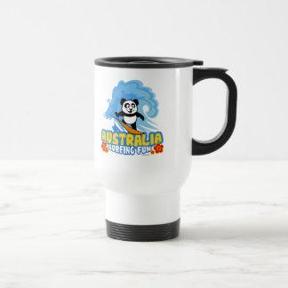 Australia Surfing Panda Travel Mug