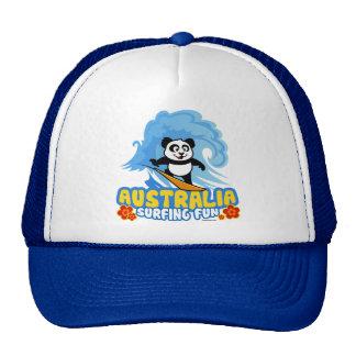 Australia Surfing Panda Trucker Hat