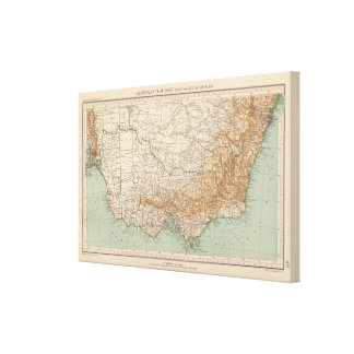 Australia suroriental por 168 impresión en lona estirada