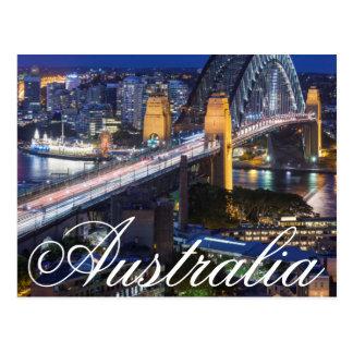 Australia, Sydney, el área de las rocas, puerto de Tarjeta Postal