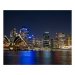 Australia, Sydney. Horizonte con el teatro de la ó Póster