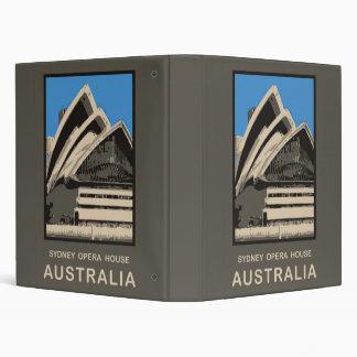 Australia Sydney Opera House 3 Ring Binder