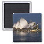 Australia, Sydney. Opera House at night on Refrigerator Magnets
