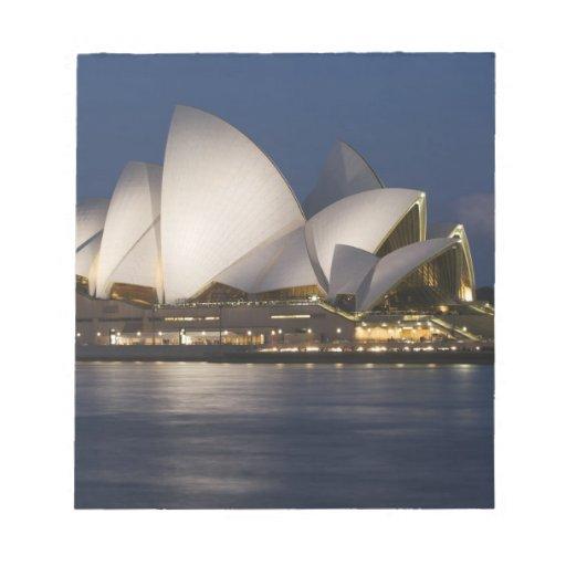 Australia, Sydney. Opera House at night on Memo Pads