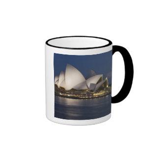Australia, Sydney. Opera House at night on Ringer Coffee Mug