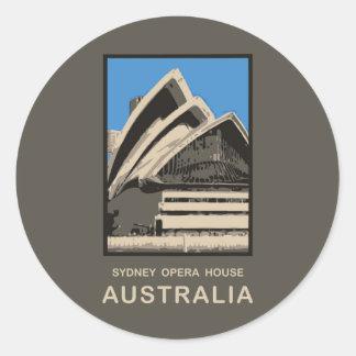Australia Sydney Opera House Classic Round Sticker