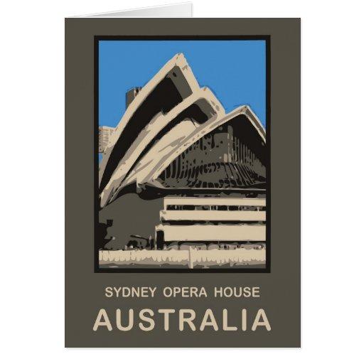 Australia sydney opera house greeting card zazzle