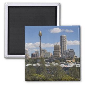 Australia, Sydney, Potts Point. Sydney skyline. 2 Inch Square Magnet