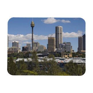 Australia, Sydney, Potts Point. Sydney skyline. Rectangular Photo Magnet